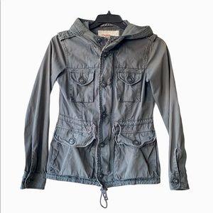 Aritzia TNA 'Military' Army Green Hooded Jacket
